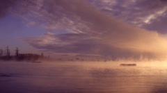 Mist over the lake Stock Footage