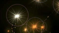 Fireworks particle stars halo background,fire flame sparks,Christmas wedding. Stock Footage
