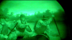 Navy Seals On Night Mission In Rafts (HD) c Stock Footage