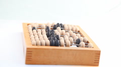 Turning  wooden abacus HD Stock Footage