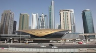 Metro station in Dubai, United Arab Emirates Stock Footage