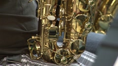 Sax tilt up Stock Footage
