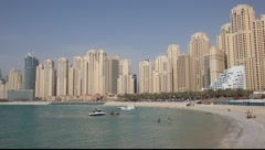 Beach in Dubai, United Arab Emirates Stock Footage