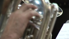 Close tuba Stock Footage