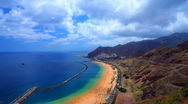 Stock Video Footage of Gold sand beach Teresitas - Tenerife - timelapse