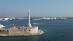 Messina harbor coast guard P HD 0850 Stock Footage
