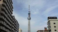 Tokyo Sky Tree time-lapse Stock Footage