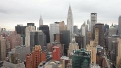 manhattan skyline millenium nyc new york - stock footage
