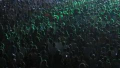 Cheering Crowd in a concert hall - stock footage
