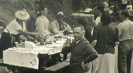 Stock Video Footage of Feast Picnic Outdoors Italy Circa 1946 (Vintage Film 8mm Home Movie) 108