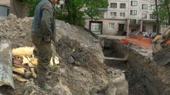 Bucket excavator Stock Footage