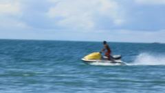 Man Jet Skiing In Ocean (HD) c Stock Footage
