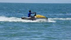 Man Jet Skiing In Ocean (HD) c - stock footage