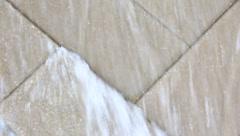closeup shot of rushing water fountain - stock footage
