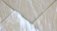 Closeup shot of rushing water fountain Stock Footage