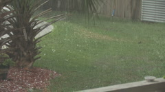 Hail Storm in Florida Clip 2 Stock Footage