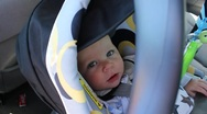 Stock Video Footage of Baby in Carseat
