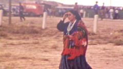 Native American Indian Woman Pueblo Navajo Plains 1940s Vintage Film Home Movie Stock Footage