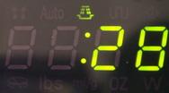 MICROWAVE DISPLAY COUNTDOWN Stock Footage