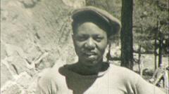 BLACK MAN African American Worker Carpenter 1930s Vintage Film Home Movie 119 Stock Footage