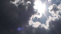 THE SUN BEHIND THE CLOUDS HD - stock footage