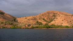 Komodo island before sunset, Indonesia Stock Footage