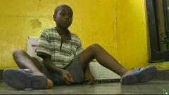 Boy Playing Marbles In Haiti (HD) c - stock footage