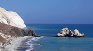 Stock Video Footage of Rocks of Aphrodite, Cyprus