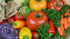 Close Up Healthy Vegetable Picks - stock footage