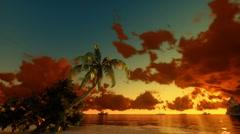 Tropical scene Sunrise Time Lapse Stock Footage