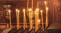 Candles in church HD Footage