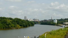 Richmond, VA River& Skyline Time lapse Stock Footage