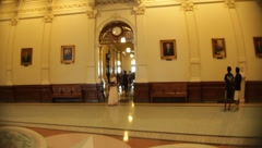 Inside the Texas Capital Building Stock Footage