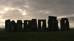 Stonehenge in the Morning Stock Footage
