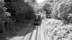 Steam Train Black and White Stock Footage