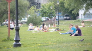 Stock Video Footage of people on holiday in the park