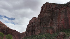 Rock structures in zion national park, utah, usa Stock Footage