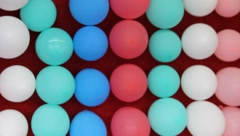 Carnival theme park games balloon pop dart game #3 Stock Footage