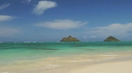 Stock Video Footage of Hawaii Lanikai Beach