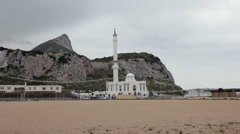 Mosque Rock of Gibraltar P HD 9688 Stock Footage