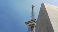 Berlin - Funkturm - Discovering from behind a Wall Stock Footage