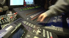Home recording studio Control 24 Stock Footage