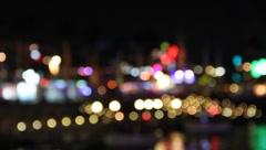 Big city Blurry lights #3 Stock Footage