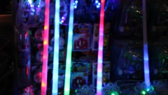 Neon and LED toys blinking and flashing #1 Stock Footage