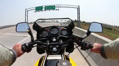 Motorcycle FPS 1 Stock Footage