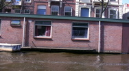 Canals of Amsterdam - boat trip , Netherlands Stock Footage