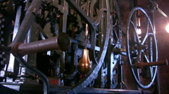 Wheels of Tower clock of Nieuwe Kerk, Delft, Netherlands Stock Footage