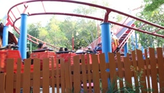 Roller Coaster Deluxe Amusement Park Theme #3 Stock Footage