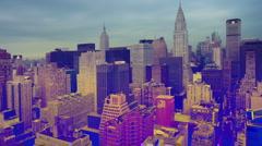 Manhattan skyline millenium nyc new york Stock Footage