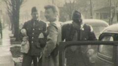 AMERICAN SOLDIERS Troops Return Home WW2 1946 Vintage Film 8mm Home Movie 130 - stock footage
